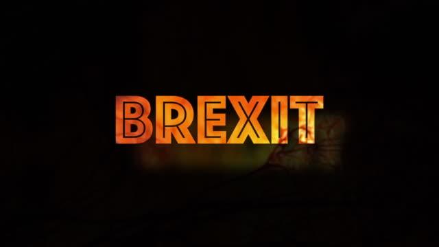 Brexit politisches Konzept rot weiß und blau
