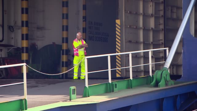 port of immingham fears no deal england port of immingham ext general views of docks including ships trucks workers roll on roll off ferry freight... - ferry stock videos & royalty-free footage