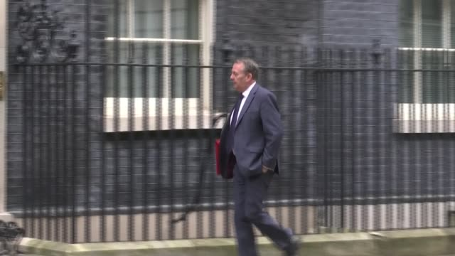 prime minister writing to eu to formally ask for june brexit postponement england london westminster ext chris grayling along downing street liam fox... - liam fox politician stock videos and b-roll footage