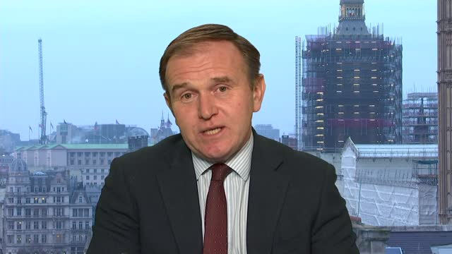 rewards for management of the environment to replace farm subsidies; england: london: westminster: int george eustice mp interview sot. cutaways gir:... - politics点の映像素材/bロール