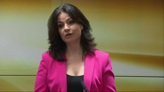'right to vote' launch press conference england london int heidi allen mp speech sot - heidi allen stock videos & royalty-free footage