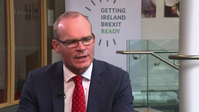 Row over plans for Northern Ireland border continue IRELAND Galway INT Simon Coveney interview SOT