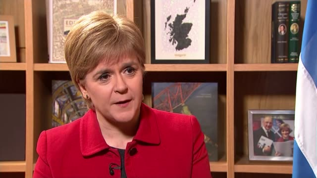Scottish independence referendum row Nicola Sturgeon MSP interview SOT for UK to be in a position where having sunk the ship they are going to...