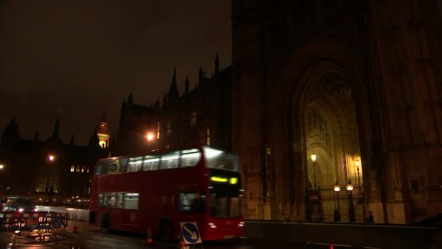 brexit secretary david davies urges parliament to pass bill triggering article 50 process with 'no strings attached' t01031722 / tx gvs houses of... - victoria tower stock-videos und b-roll-filmmaterial