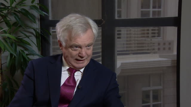 brexit secretary david davis saying labour party frontbenchers disagree with keir starmer's plans to allow eu nationals to move to the uk if they... - labour party stock videos & royalty-free footage