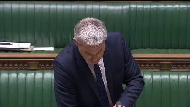 """brexit secretary stephen barclay assures the self employed that """"more help is coming soon"""", while liberal democrat ed davey asks the government to... - houses of parliament london stock videos & royalty-free footage"""