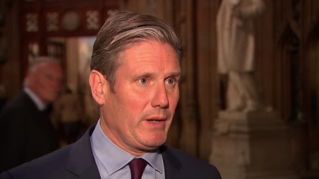Senior cabinet ministers summoned to Downing Street to review draft Brexit deal ENGLAND London Westminster INT Sir Keir Starmer MP interview SOT
