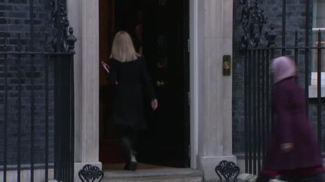 senior cabinet ministers summoned to downing street to review draft brexit deal england london downing street ext david lidington mp along to number... - liam fox politician stock videos and b-roll footage