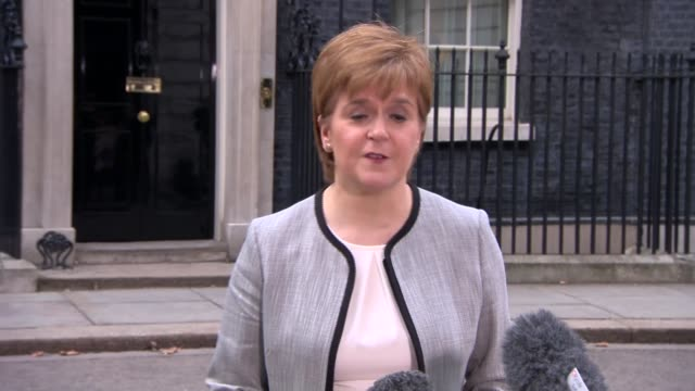 brexit / sergei skripal nerve agent attack joint ministerial committee nicola sturgeon speaking to press england london downing street ext nicola... - sergei skripal stock videos and b-roll footage