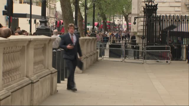 shadow cabinet arrive to cabinet office / keir starmer doorstep interview england london westminster whitehall ext james cleverly mp along / rebecca... - john mcdonnell politician videos stock videos & royalty-free footage