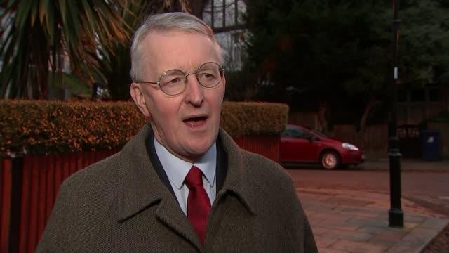 sir ivan rogers resigns as eu ambassador england london hilary benn mp interview sot re rogers resignation - hilary benn stock-videos und b-roll-filmmaterial
