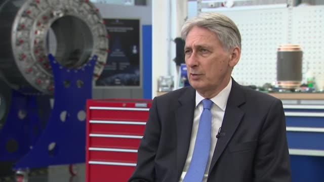 Brexit stockpiling and higher wages behind economic growth says Chancellor ENGLAND Oxfordshire Abingdon Culham Science Centre INT Philip Hammond MP...