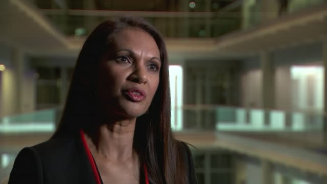 supreme court hearing on article 50 ends gir int gina miller interview sot supreme court ext general view middlesex guildhall window jeremy wright mp... - court hearing stock videos and b-roll footage