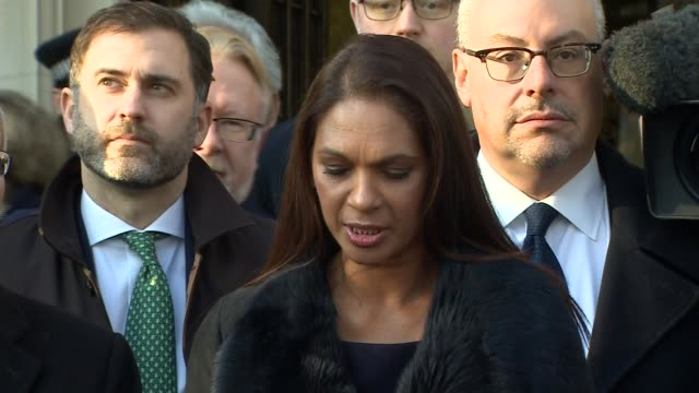 supreme court judgement parliament must vote before article 50 is triggered ext claimant gina miller from court to speak to press gina miller... - article stock videos and b-roll footage