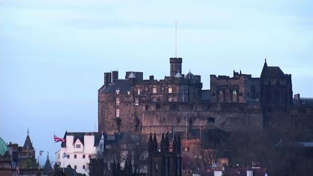 Supreme Court judgement Reactions SCOTLAND Edinburgh EXT View towards Edinburgh Castle View over rooftops Edinburgh Castle Scottish Parliament...