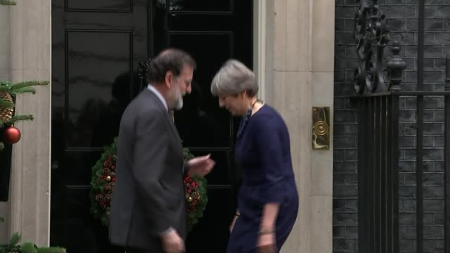 Democratic Unionists accused of preventing deal Downing Street Theresa May MP greeting Spanish Prime Minister Mariano Rajoy beside Christmas tree and...