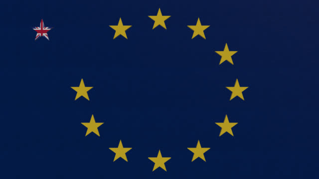 brexit themed eu flag - brexit stock videos & royalty-free footage