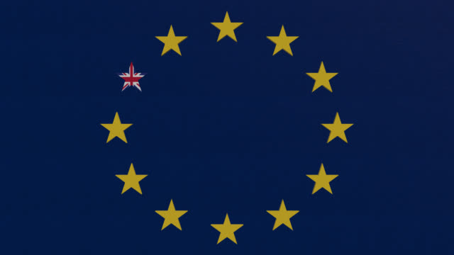 brexit tema eu-flaggan - johnfscott bildbanksvideor och videomaterial från bakom kulisserna