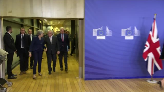 Theresa May arrives in Brussels as EU leaders set to approve Brexit withdrawal agreement BELGIUM Brussels European Commission INT Theresa May MP and...