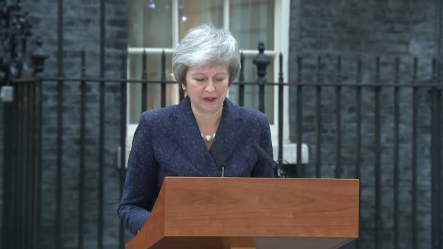 theresa may awaits result of no confidence vote uk london westminster theresa may mp making statement outside number 10 downing street about... - theresa may stock videos & royalty-free footage