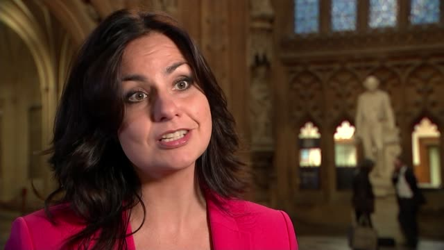 theresa may claims withdrawal negotiations with the eu are 95% complete england london int heidi allen mp mp interview sot westminster people along... - member of parliament stock videos & royalty-free footage