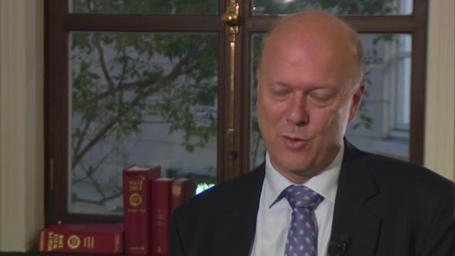 theresa may claims withdrawal negotiations with the eu are 95% complete uk / brussels chris grayling mp interview / iain duncan smith mp speaking to... - david trimble stock videos and b-roll footage