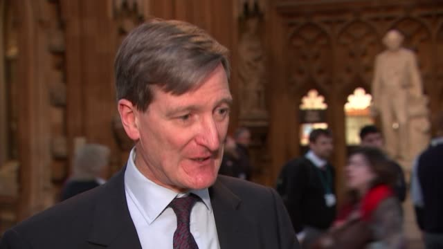 Theresa May defeated in crucial amendment vote UK London Dominic Grieve MP interview Alison McGovern MP interview ENGLAND London House of Commons INT...