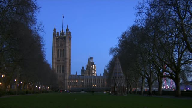 theresa may defeated in crucial amendment vote uk london westminster dominic grieve mp nicky morgan mp and sir bernard jenkin mp interviews england... - victoria tower stock videos & royalty-free footage