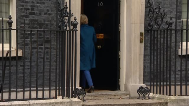 theresa may defends brexit deal to sceptical mps uk london cabinet arrivals to downing street / amber rudd mp and michael gove mp doorsteps england... - andrea leadsom stock-videos und b-roll-filmmaterial