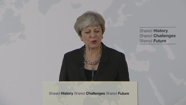 theresa may florence speech theresa may mp speech sot i believe we can be optimistic about the future we can build for the united kingdom and for the... - florence italy stock videos & royalty-free footage