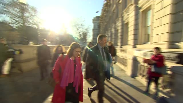 Theresa May holds crossparty Brexit talks in bid to break deadlock UK London Westminster Whitehall MPs arriving for crossparty Brexit talks at...
