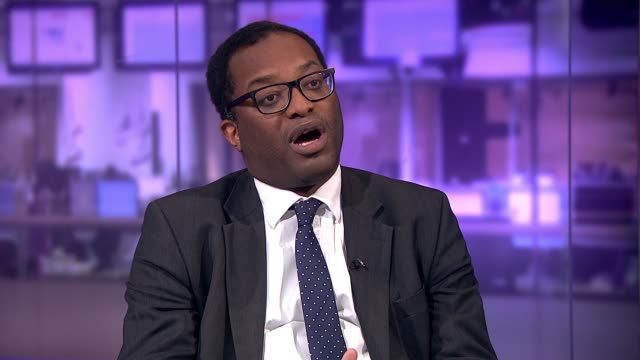 Theresa May holds crossparty Brexit talks in bid to break deadlock ENGLAND London GIR INT Kwasi Kwarteng MP LIVE STUDIO interview SOT