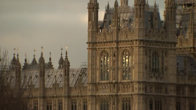 Theresa May insists she will not sign deal 'at any cost' as chances of November ENGLAND London Westminster Houses of Parliament with River Thames in...