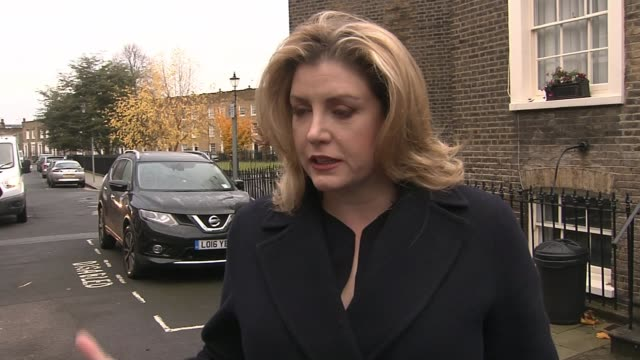 Theresa May insists she will not sign deal 'at any cost' as chances of November Brussels summit recede ENGLAND London EXT Penny Mordaunt MP doorstep...