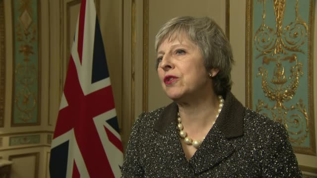 Theresa May interview BELGIUM Brussels INT Theresa May MP interview SOT