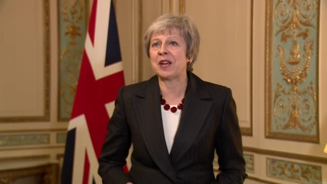 Theresa May interview after meeting with JeanClaude Juncker BELGIUM Brussels INT Theresa May MP interview SOT [Reporter What did you and President...