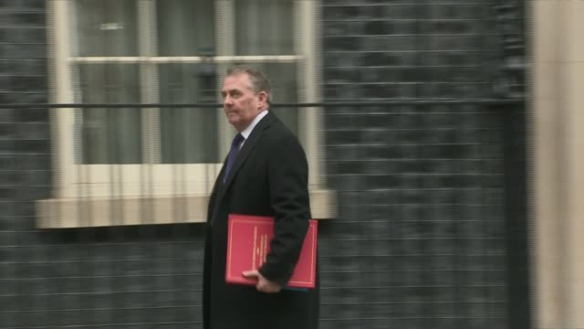 theresa may maintains that britain will leave the eu on time uk london westminster downing street cabinet departures england london westminster... - liam fox politician stock videos and b-roll footage