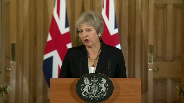 theresa may makes downing street statement calling for more respect from eu england london downing street int theresa may speech sot in plain english... - theresa may stock videos & royalty-free footage