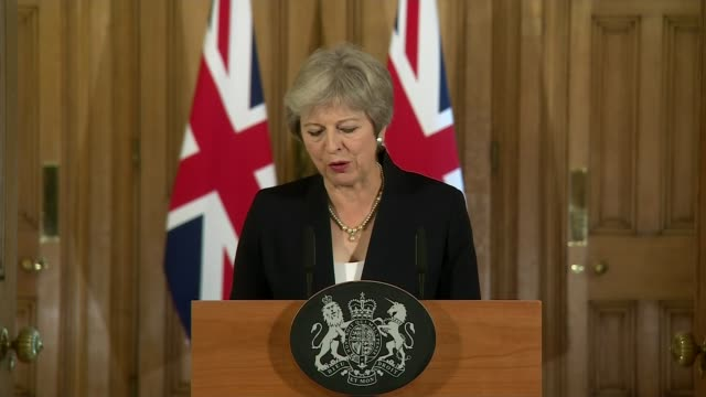 vidéos et rushes de theresa may makes downing street statement calling for more respect from eu england london downing street theresa may speech sot at this late stage... - respect