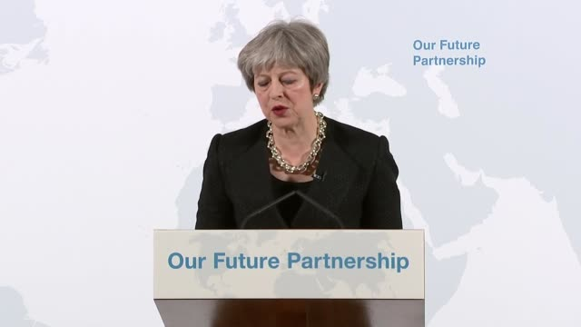 Theresa May Mansion House speech Theresa May speech SOT So existing models do not provide the best way forward for either the UK or the EU But before...
