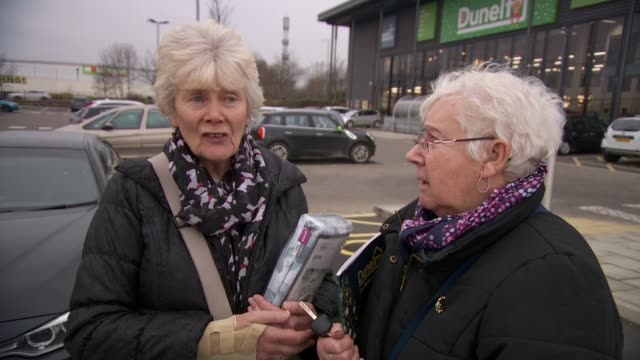theresa may no confidence vote view from nottingham england nottinghamshire nottingham ext general views car park and dunelm homeware store vox pops... - homeware stock videos and b-roll footage