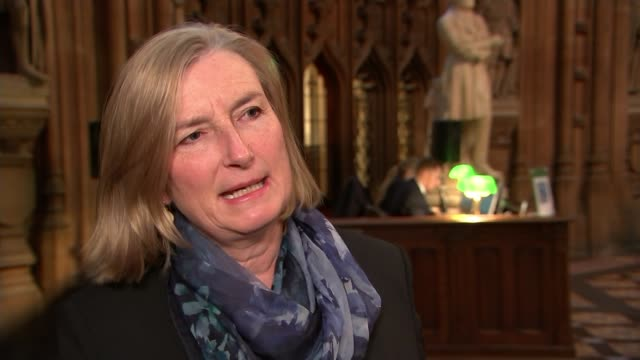 Theresa May no confidence vote what next ENGLAND Westminster Houses of Parliament Central Lobby INT Sarah Wollaston MP talking to reporter Sarah...