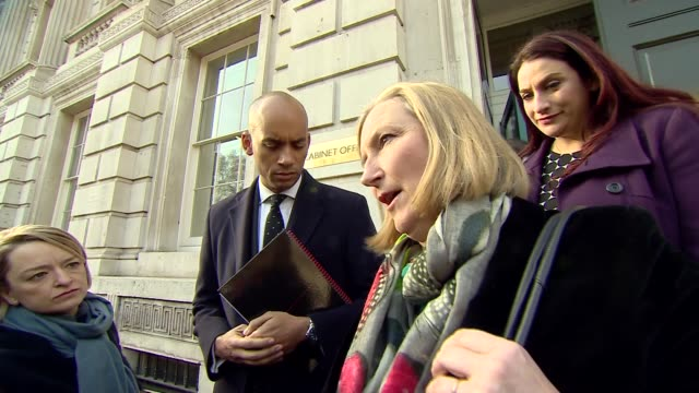 theresa may outlines brexit 'plan b' in statement to house of commons england london westminster ext sarah wollaston mp leaving the cabinet office... - heidi allen stock videos & royalty-free footage