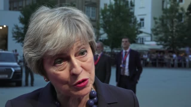 Theresa May seeks support for her Chequers plan at informal EU summit in Salzburg AUSTRIA Salzburg Theresa May interview SOT welcome that Barnier is...