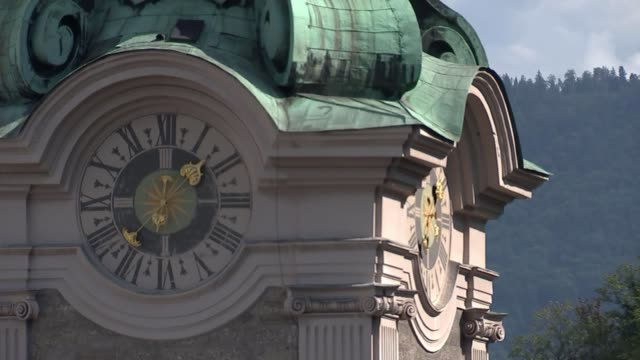 Theresa May seeks support for her Chequers plan at informal EU summit in Salzburg AUSTRIA Salzburg General view clock tower of St Peter's Abbey...