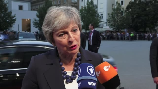 Theresa May seeks support for her Chequers plan at informal EU summit in Salzburg AUSTRIA Salzburg EXT Theresa May MP interview SOT right proposal /...