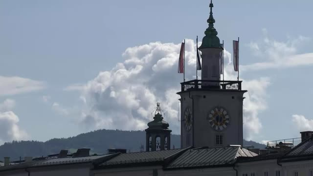 theresa may seeks support for her chequers plan at informal eu summit in salzburg salzburg austria general views salzburg including salzburg... - old town bridge tower stock videos and b-roll footage