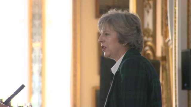 theresa may speech on brexitcutaways and reactions england london lancaster house int audience for speech by prime minister theresa may mp on brexit... - liam fox politician stock videos and b-roll footage