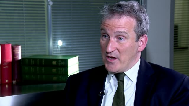 theresa may takes the case for her brexit deal to the country england london westminster int damian hinds mp interview sot london ext man outside... - damian hinds stock videos and b-roll footage