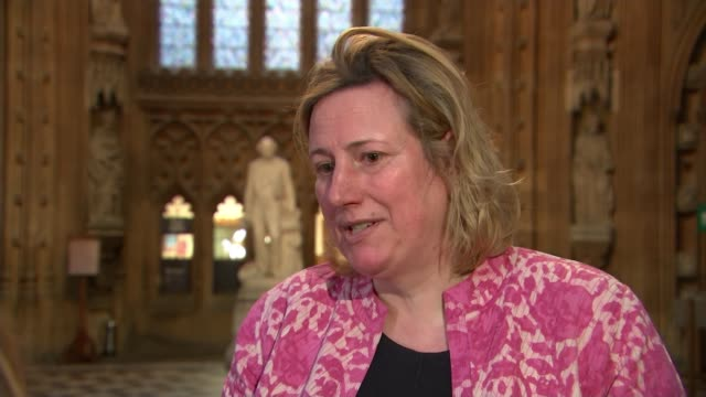 Theresa May to discuss her future with Tory backbenchers next week ENGLAND London Houses of Parliament INT Antoinette Sandbach MP setup shot with...